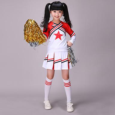 cheerleader kostymer barn vestlig stil ytelse polyester 2 stk antrekk av skal vi