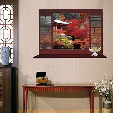 בוטניקה / אנימציה / רומנטיקה / אופנה / חג / נוף / צורות / תחבורה / פנטזיה / 3D מדבקות קיר מדבקות קיר תלת מימד,PVC90cm x 60cm ( 35in x