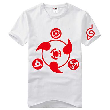 Inspirado por Naruto Itachi Uchiha Anime Fantasias de Cosplay Cosplay T-shirt Estampado Manga Curta Camiseta Para Unisexo