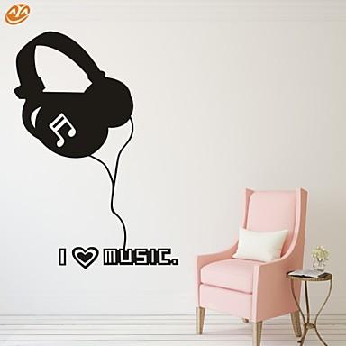 Musiikki / Muoti Wall Tarrat Lentokone-seinätarrat,PVC S:40*57cm/ M:54*77cm/ L:70*100cm