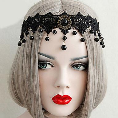 Nakit Gothic Lolita Šeširi Vintage inspirirano Crn Lolita Pribor Glava Čipka Za Žene Čipka