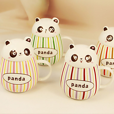 2 kom 400ml lijep giht pot-bellied cup panda keramička glazura boje bar krigla šalice vode (Random boja)