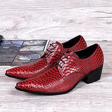 Muške cipele Oksfordice Vjenčanje / Ured i karijera / Zabava i večer Koža Crvena