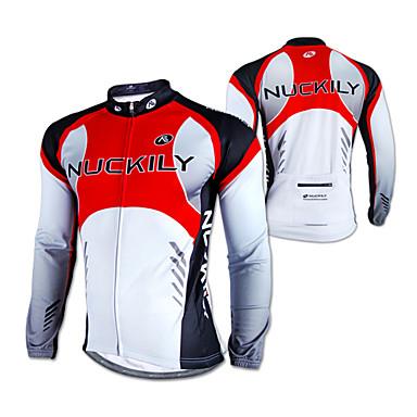 Nuckily Biciklistička majica Muškarci Dugi rukav Bicikl Biciklistička majica MajiceVodootporno Ugrijati Vjetronepropusnost Otporno na