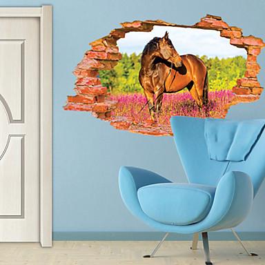 Eläimet 3D Kasvitiede Wall Tarrat 3D-seinätarrat Koriste-seinätarrat, Vinyyli Kodinsisustus Seinätarra Seinä