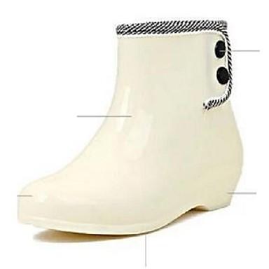 Ženske cipele-Ravne cipele / Čizme-Aktivnosti u prirodi / Ležerne prilike-Silikon / Lateks / PVC-Niska potpetica-Čizme u vojnom stilu /