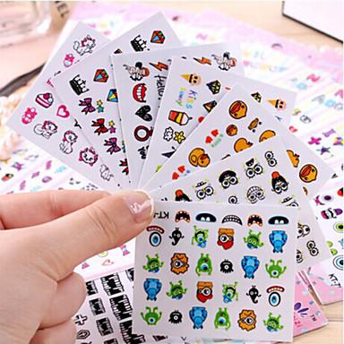 3D Nail Stickers-Muuta-Sarjakuva / Kukka-Sormi / Varvas-6.5*5.5-5pcs