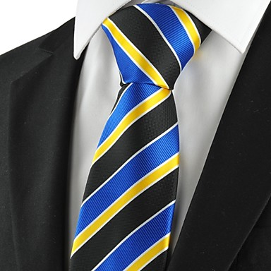 Prugasti uzorak-Kravata(Crna / Plava / Žuta,Poliester)