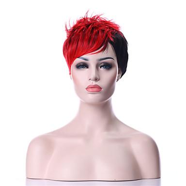 Συνθετικές Περούκες Σγουρά Πυκνότητα Χωρίς κάλυμμα Γυναικεία Κόκκινο Καρναβάλι περούκα Απόκριες Περούκα μαύρο Περούκα Συνθετικά μαλλιά