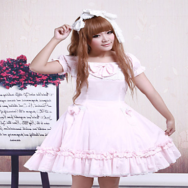 고딕 로리타 클래식/전통적 롤리타 Steampunk® 레이스 여성용 드레스 코스프레 짧은 소매 짧은 길이