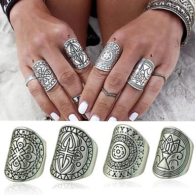 Prstenje Žene / Muškarci Non Stone Legura Legura 7 SrebrnaBoja & Style zastupanje može se razlikovati po monitoru. Nismo odgovorni za