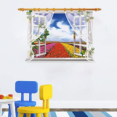 Koriste-seinätarrat - 3D-seinätarrat Maisema Asetelma Kukkakuviot Olohuone Makuuhuone Kylpyhuone Keittiö Ruokailuhuone Työhuone /