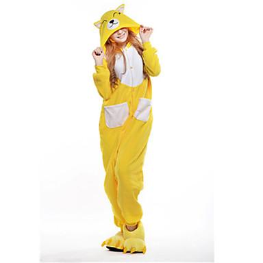 Pyžama Kigurumi Liška Pyžamo Onesie Kostým polar fleece Žlutá Cosplay Pro Animal Sleepwear Karikatura Halloween Festival / Svátek