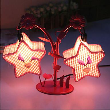 kreatív két pentagram lámpa hálószoba éjjeli lámpa világító lámpák európai romantikus személyiség ajándék (véletlenszerű szín)