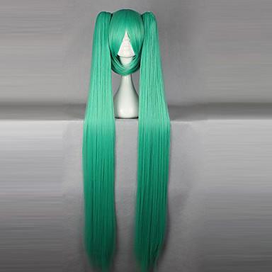 Vocaloid Hatsune Miku Kadın's 50 inç Isı Dirençli Fiber Anime Cosplay Perukları