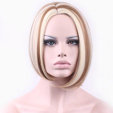 kohdat Euroopassa ja Yhdysvalloissa kuuma tyyli hiukset tukka kaltevuus kultainen kuitua peruukki