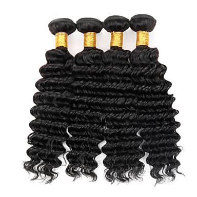 Hiukset kutoo Brasilialainen Kihara 4 osainen hiukset kutoo