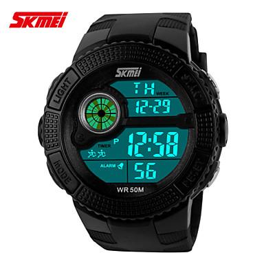 스포츠 시계 남성 / 남여공용 LCD / Compass / 온도계 / 달력 / 방수 / 듀얼 타임 존 / 스포츠 시계 디지털 디지털