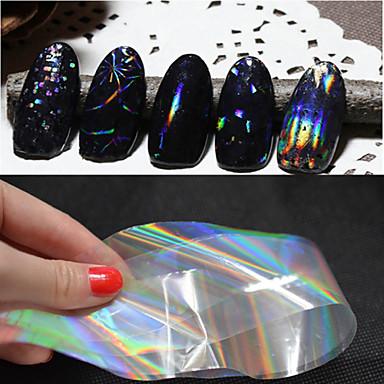 6 pcs Nail Foil Striping Tape Vannoverføringsklistre Neglekunst Manikyr pedikyr Abstrakt / Mote Daglig / PVC / Folie Stripping Tape