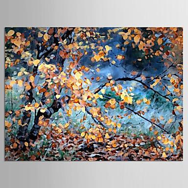Maalattu Kukkakuvio/KasvitiedeModerni 1 paneeli Kanvas Hang-Painted öljymaalaus For Kodinsisustus