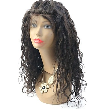 Aidot hiukset Lace Peruukki Vesilaine Full Lace Lace Front Liimaton puoliverkko 100% käsinsidottu Afro-amerikkalainen peruukki