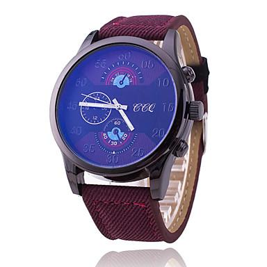 Xu™ 남성용 손목 시계 석영 섬유 밴드 블랙 블루 레드 브라운
