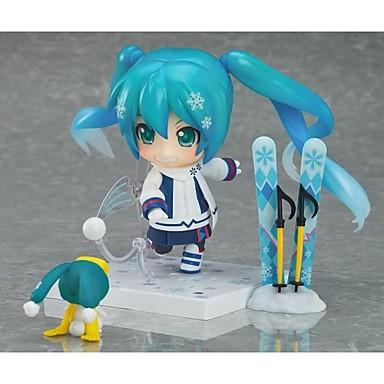 애니메이션 액션 피규어 에서 영감을 받다 보컬로이드 스노우 미쿠 PVC 8 CM 모델 완구 인형 장난감