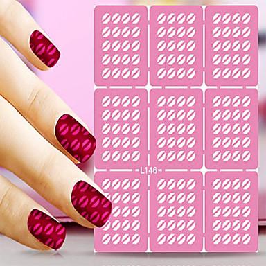 Nail Art tarra Diecut manikyyri Stencil Nail Jewelry Sarjakuva Lovely meikki Kosmeettiset Nail Art Design