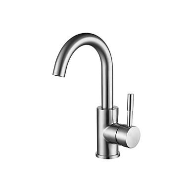 Kylpyhuone Sink hana - Vesiputous Harjattu Integroitu Yksi kahva yksi reikä
