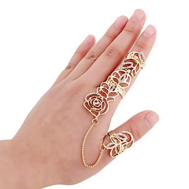 טבעות אופנתי Party תכשיטים סגסוגת נשים טבעות מידי 1set,מידה אחת One Size מוזהב