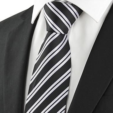 Solmio-Polyesteri,Raidallinen,Musta / Hopeanvärinen