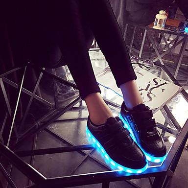 Žene Za dječake Za djevojčice Sneakers Proljeće Ljeto Jesen Osvijetlite Shoes Umjetna koža Aktivnosti u prirodi Ležeran AtletikaRavna