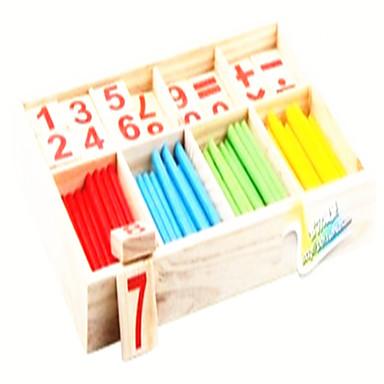 hesapli Oyuncaklar ve Oyunlar-Montessori Eğitim Araçları Matematik Oyuncakları Eğitici Oyuncak Oyuncaklar Çevre-dostu Eğitim Tahta Klasik Parçalar Çocuklar için Hediye