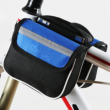 Fahrradtasche 2L Fahrradrahmentasche Staubdicht tragbar Stoßfest Skifest Tasche für das Rad Polyester Maschen Fahrradtasche Alles Handy