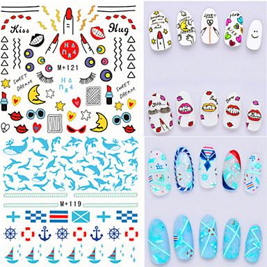 3D Nail Stickers / Nail Jewelry-PVC-Lovely-Sormi-6.6*7.2-1pcs