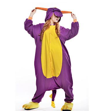 Kigurumi-pyjamas Dinosaur / Drage Onesie-pyjamas Kostume Polarfleece Lilla Cosplay Til Voksne Nattøj Med Dyr Tegneserie Halloween