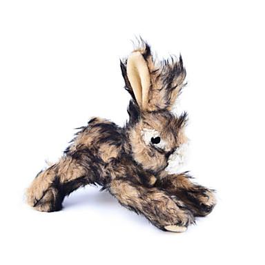 צעצועי בד חריקה Rabbit Rabbit טֶקסטִיל עבור חתול כלב