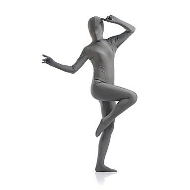 Zentai Anzüge Catsuit Hautenger Anzug Ninja Zentai Kostüme Cosplay Kostüme Grau Solide Gymnastikanzug / Einteiler Zentai Kostüme Elasthan Lycra Herrn Damen Halloween / Hochelastisch