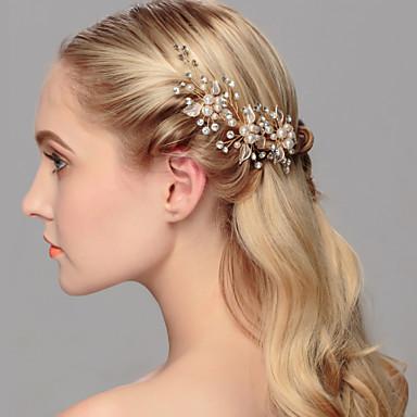 abordables Coiffes-Perle Coiffure / Épingle à cheveux avec Fleur 1pc Mariage / Occasion spéciale / Décontracté Casque