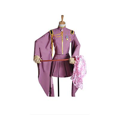 Esinlenen Vocaloid Hatsune Miku Video oyun Cosplay Kostümleri Cosplay Takımları Kimono Solid Uzun Kollu Palto Etek Eldivenler Uzun Çorap