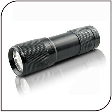 On-Off 블랙 조명 손전등 LED 100 lm 1 모드 - 위조 감지기 자외선 일상용 블랙