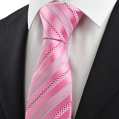 Krawatte(Grau / Rosa,Polyester)Gestreift