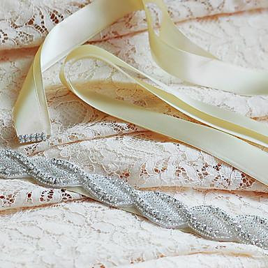 Saten Vjenčanje Zabava / večer Svakodnevica Pojas-Perlice Aplikacije Cirkonici Perlice Aplikacije Cirkonici