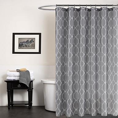 Duschvorhänge Modern Polyester Geometrisch Maschinell gefertigt