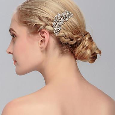 Strass Pentes de cabelo 1 Casamento / Ocasião Especial / Casual Capacete