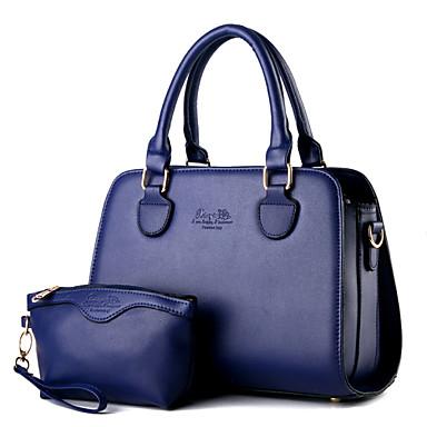 Žene PU Formalno Ležerni Ured i karijera Šoping Torbe na rame Tote torbica Bag Setovi Dark Blue Fuksija Plava Lila-roza Svjetloplav