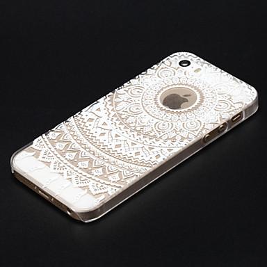 Capinha Para iPhone 5 Apple iPhone X iPhone X iPhone 8 Capinha iPhone 5 Transparente Estampada Capa traseira Mandala Rígida PC para