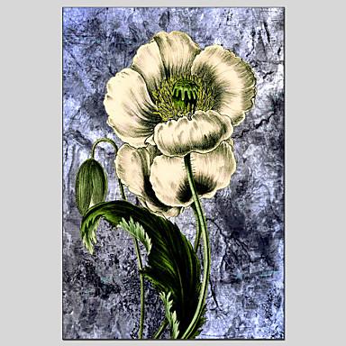 크기 60 * 90cm를 중단 할 준비가 뻗어 프레임 꽃 스타일의 캔버스 소재 유화