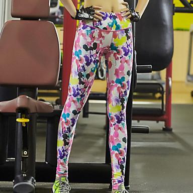 בגדי ריקוד נשים טייץ לריצה טייץ למכון כושר ייבוש מהיר נושם דחיסה חומרים קלים תומך זיעה תחתיות יוגה פילאטיס כושר גופני ספורט פנאי ריצה