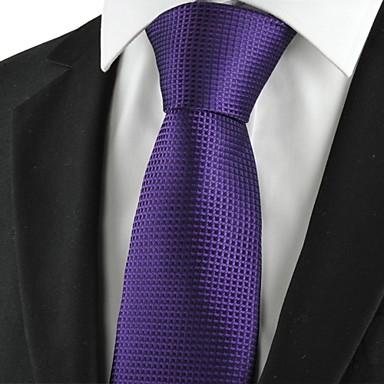 Krawatte(Lila,Polyester)Gitter